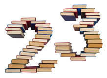 Алфавит сделанный из книг, диаграмм 2 и 3 Стоковые Изображения