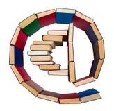 Алфавит сделанный из книг, символ электронной почты Стоковые Изображения
