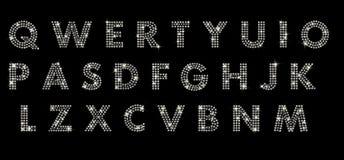Алфавит с диамантами Стоковая Фотография RF