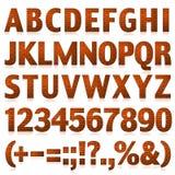 Алфавит установил 3 письма кирпича больших Стоковые Фотографии RF