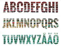 Алфавит установленный с скандинавскими письмами Стоковые Фотографии RF
