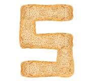 Алфавит хлеба изолята Стоковые Изображения RF