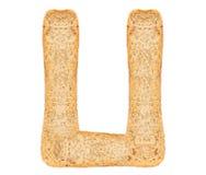 Алфавит хлеба изолята Стоковое Изображение RF