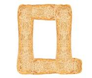 Алфавит хлеба изолята Стоковое фото RF