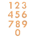 Алфавит цифров, апельсин цвета Стоковые Изображения RF