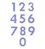 Алфавит цифров, красит синий Стоковое фото RF