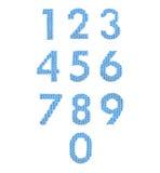 Алфавит цифров, красит синь Стоковые Фотографии RF