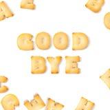 Алфавит шрифта печенья до свидания Стоковая Фотография RF