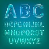 Алфавит шрифта иллюстрация штока