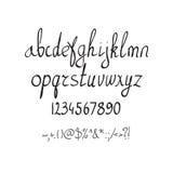 Алфавит щетки вектора рукописный на белой предпосылке Стоковая Фотография RF