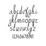 Алфавит щетки вектора рукописный на белой предпосылке Стоковая Фотография