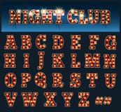 Алфавит электрической лампочки иллюстрация штока