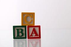алфавит abc преграждает малышей деревянных Стоковое Изображение RF