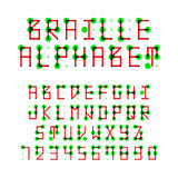 алфавит braille Стоковые Изображения