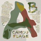 Алфавит /Camouflage-1/ Стоковое Фото