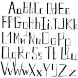 Алфавит doodle вектора нарисованный рукой Стоковое Изображение RF