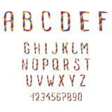 Алфавит Doodle Стоковые Изображения RF
