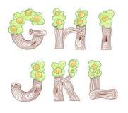 Алфавит eco doodle отметки английский Стоковое Изображение