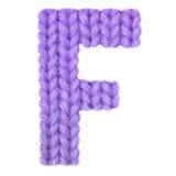 Алфавит f письма английский, красит пурпур Стоковые Изображения RF