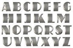 Алфавит Gatsby Scrapbook цифров Стоковые Изображения RF