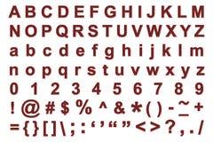 Алфавит grunge металла бесплатная иллюстрация