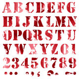 Алфавит Grunge полный Стоковое Фото
