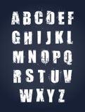 Алфавит Grunge Стоковое Изображение