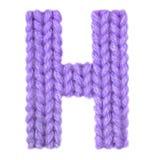 Алфавит h письма английский, красит пурпур Стоковое Фото