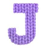 Алфавит j письма английский, красит пурпур Стоковые Изображения