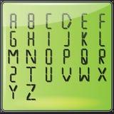 Алфавит LCD цифров Стоковое Изображение RF