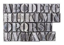 Алфавит Letterpress Стоковое Изображение