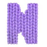 Алфавит n письма английский, красит пурпур Стоковые Изображения RF