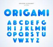 Алфавит origami вектора Собрание письма Стоковая Фотография