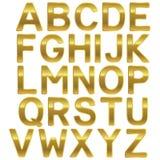 Алфавит Uppercase золота шрифта Стоковое Изображение