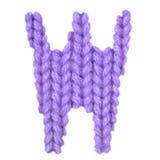 Алфавит w письма английский, красит пурпур Стоковое Изображение RF