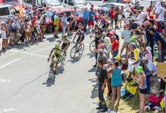 Альберто Contador на Col du Glandon - Тур-де-Франс 2015 стоковое изображение rf
