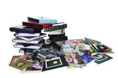 Альбомы семейного фото Стоковая Фотография