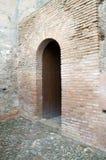Альгамбра - дверь Стоковые Изображения