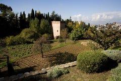 Альгамбра - Гранада - Испания Стоковые Фотографии RF