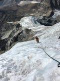 Альпинизм, зона Эвереста стоковое фото