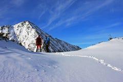 2 альпиниста восхищая Retezat выступают в горах Retezat, Румынии Стоковые Фото