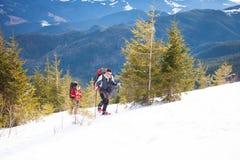 2 альпиниста в горах Стоковое фото RF