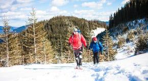 2 альпиниста в горах Стоковое Фото