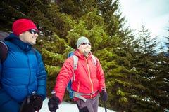 2 альпиниста в зиме Стоковое Изображение