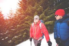 2 альпиниста в зиме Стоковые Изображения RF