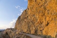 2 альпиниста на крутом утесе Стоковое фото RF