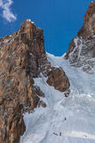 2 альпиниста на стене льда Стоковое Изображение