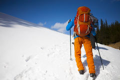 2 альпиниста с рюкзаками Стоковые Фотографии RF