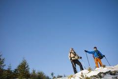 2 альпиниста с рюкзаками Стоковая Фотография