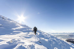 альпиниста mont ледника Франции blanc гулять мыжского гористый Reac альпиниста Стоковое Изображение